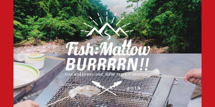 株式会社八千代堂様 「Fish:Mallow BURRRRN!!」ロゴマーク、リーフレット、パッケージデザイン