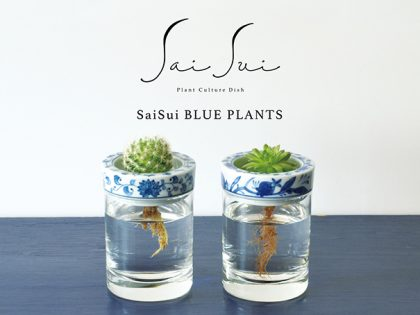 Sai Sui BLUE PLANTS ~食を彩る陶器から緑を彩る陶器へ~