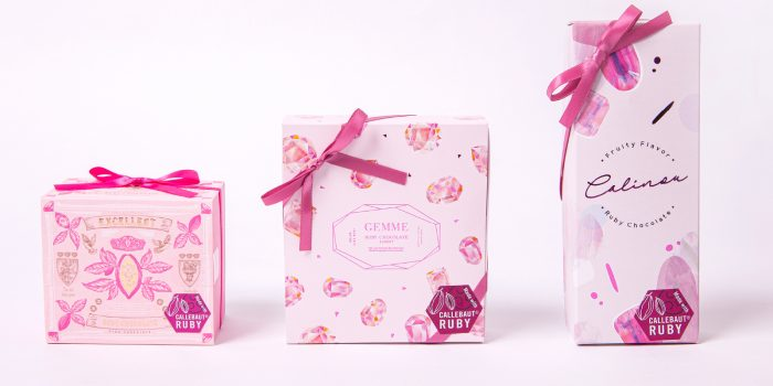 ルビーチョコレートパッケージデザイン